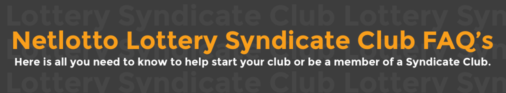 Netlotto Lottery Syndicate Club FAQ'S